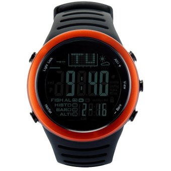 Harga digital watches Men Watch with Weather forecast Altimeter Barometer Thermometer Altitude for Climbing Hiking Fishing Outdoor sports