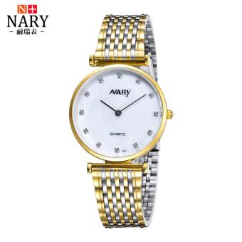 Harga Nary Stainless Steel Strap Women's Watch NR1907 (Gold)