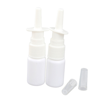 Harga BolehDeals 20ML Empty Plastic Nasal Fine Mist Spray Bottle Pump Sprayer with Cap-White (Intl) - intl