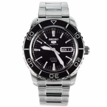 Harga Seiko Automatic Black Men's Stainless Watch SNZH55K1