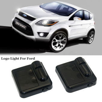 Harga 2 x Ghost Shadow Light Welcome Laser Projector Lights LED Car Logo For Ford Mondeo MK3 MK4 Mustang Kuga Fusion Focus 3 2 - Intl