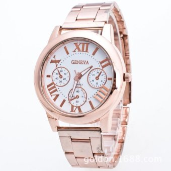Geneva RoseGold/White Roman Numerals Wrist Watch Price Philippines