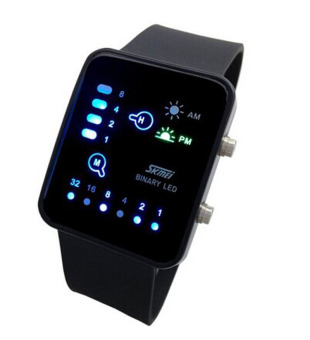 Harga Technological Sense Binary Digital LED Sports Touch Screen Wrist Watch Black