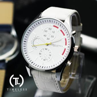 Timeless Manila Leo Chrono Leather Watch (White) Price Philippines