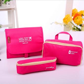 Harga Rising Star 3 in 1 Folding Waterproof Breathable Toiletry Bag (Pink)
