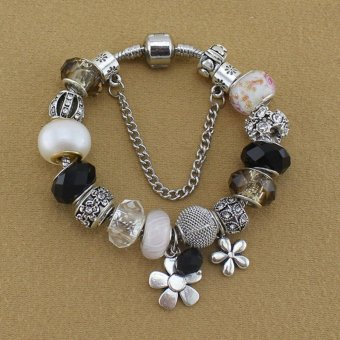 Harga Rising Star Europe and the United States trendy 925 Silver Pandora charm bracelet crystal bracelet B15202