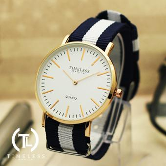 Timeless Manila Carl Nylon Adjustable Watch (White/Blue) Price Philippines