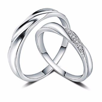 Harga LOVE&HOME Genuine 925 Sterling Silver Classic Lover Couple Ring