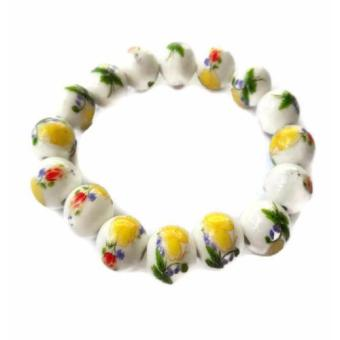Harga Be Lucky Charms Feng Shui Yellow Ceramic Big Bead Bracelet