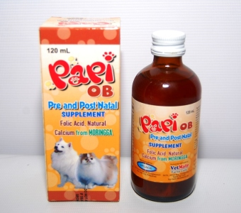 Harga Papi OB Pre and Post Natal Supplement for Dogs and Cats 120ml
