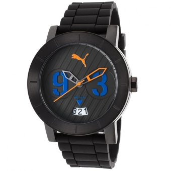 Harga PUMA PU103571004 Deep Unisex Rubber Strap Watch (Black)