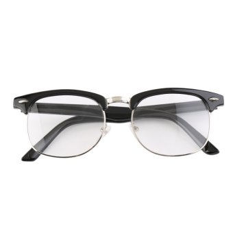 OH Fashion Retro Optical Half Frame Clear Lens Glasses Nerd Geek Eyewear Black Price Philippines