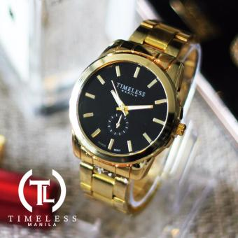 Timeless Manila Courtney Gold Plated Classic Metal Watch (Gold/Black) Price Philippines