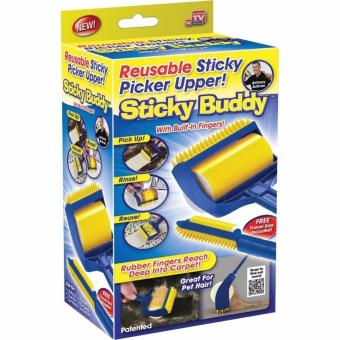 BIH 2 in 1 Reusable Sticky Buddy Picker Cleaner Lint Roller Pet Hair Remover Brush Price Philippines