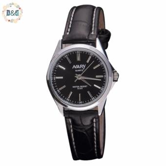 Harga Nary Women 6100 Leather Strap Watch (Black)