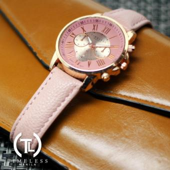 Timeless Manila Kathy Roman Numeral Chrono Leather Watch (Pink) Price Philippines