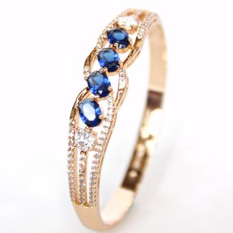 Harga Athena and Co. 22k Gold Plated Claire Sapphire Bangle