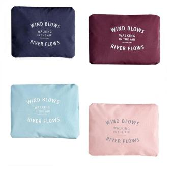 Wind Blows Folding Carry Bag (Navy Blue,Light Blue,Peach,Maroon) Set Of 4 Price Philippines