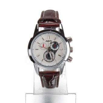 Harga Nary Leather Strap Women's Watch NR6041 (Brown)