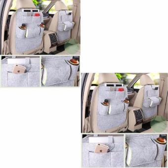 MultiFunctional Automobile Storage Bag (Light Gray) Set of 2 Price Philippines