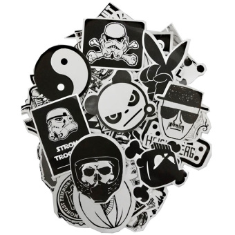 Harga Personality Skateboard Applique Vinyl Car Sticker Skate Graffiti Laptop Luggage Car Bomb Decal - Intl