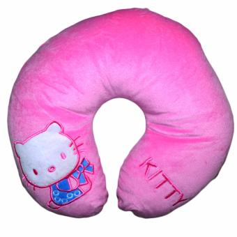 Harga U-Neck Hello Kitty Neck Relax Pillow Cushion Cotton U Shape Neck Pillow Cushion (Pink)