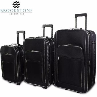 "Brookstone Woolworth Basic Concept Travel Luggage Set of 3 Size (20"" /23""/27"") Price Philippines"