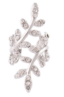 Amango Women Crystal Leaf Clip Earings Punk Rock Retro Silver Price Philippines