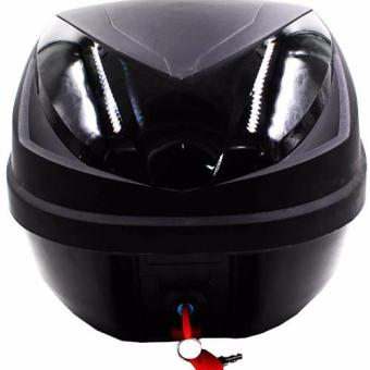 Hansen HNJ Motorcycle/Scooter Top Box Tail Trunk Luggage Compartment Box (Black) Price Philippines