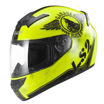 Harga LS2 Full Face FF352 Fan Helmet (Hi-Vis Yellow)