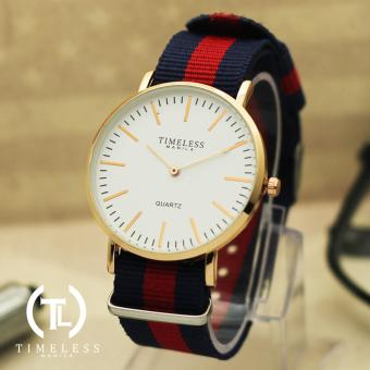 Timeless Manila Carl Nylon Adjustable Watch (Red/Blue) Price Philippines