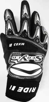 "Scoyco® MX-Series MX-03 Motorcycle Gloves ""Lycra"" Material Motocross MX Racing (Black) (XS) Price Philippines"