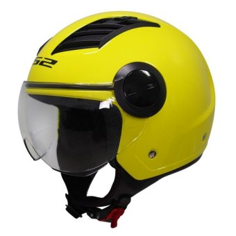 Harga LS2 Open Face OF562 Airflow Jet Helmet (Hi-Vis Yellow)