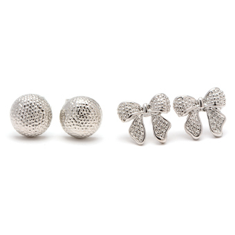 Harga Piedras SUNA27 Two in One Earrings (White Gold)