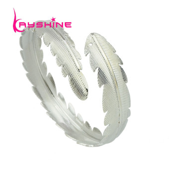 Kayshine Gold Silver Plated Metal Leaf Shape Bangles - intl Price Philippines