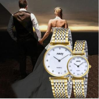 Harga Nary Stainless Steel Strap Couple Watch NR1907 (Gold)