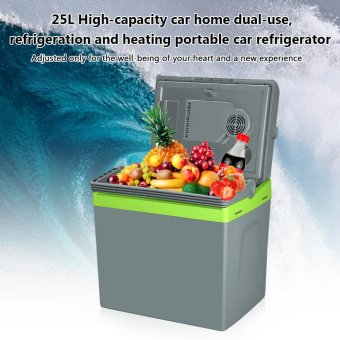 Smt-125 25l Car Refrigerator Cooler Box Warmer Dual Purpose(Grey) - intl Price Philippines