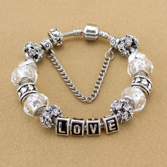 Harga Rising Star Europe and the United States trendy 925 Silver Pandora charm bracelet crystal bracelet B15096