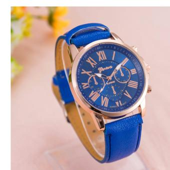Geneva Women's Roman Blue Leather Strap Watch Price Philippines