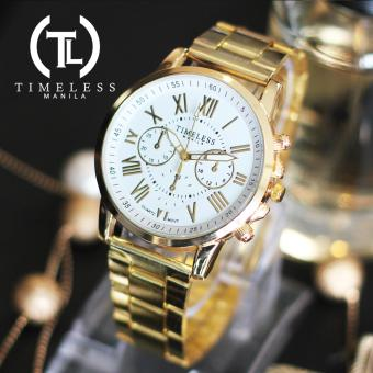 Timeless Manila Candice Roman Numeral Chrono Metal Watch (White) Price Philippines