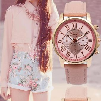 Geneva Women's Roman Leather Strap Watch (Pink) Price Philippines