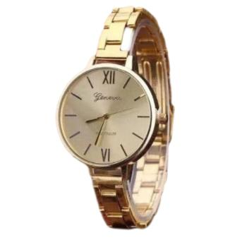 Geneva Roman Numerals Steel-Belt Watch EK002 (Gold) Price Philippines