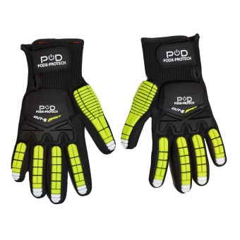 Harga Power On Demand POD-Protech Large Work Gloves (Black/Green)