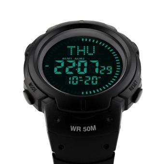 TTLIFE Fashion Brand Outdoor Sports Hiking Men'S Digital 50M Water Resistant Compass Wrist Watch (black) - intl Price Philippines