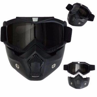 2017 Brand New Detachable Uni Mask with Goggles(BLACK) Price Philippines