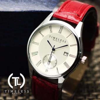 Timeless Manila Justine Roman Numeral Datejust Leather Watch (Red) Price Philippines