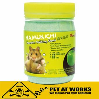 Hamukichi Hamster Bathing Sand (400g) Green Apple for Pets and Hamster Bath Soap San Price Philippines