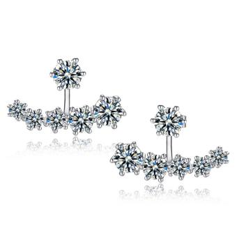 Harga Rising Star Korean fashion diamond 925 silver earrings jewelry ED109