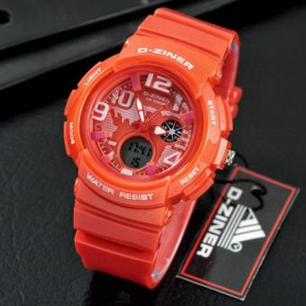 Harga D-ZINER Lady Gaga Sporty Watch for Ladies (Orange)