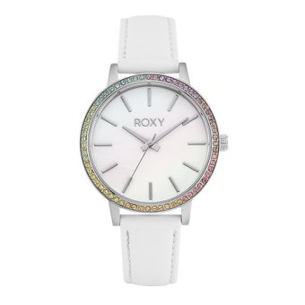 Harga Roxy The Bells Women White Leather Strap Watch RX-1009MPSV